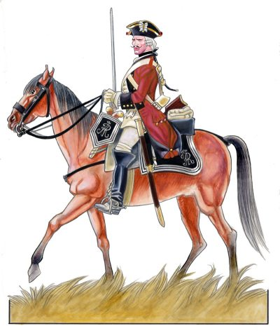 Trooper of Graf Rutowsky Light Dragoons in 1756 - Copyright: Franco Saudelli