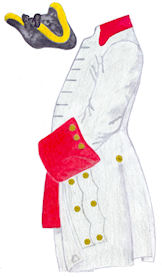Uniform in 1758 - Source: Kronoskaf
