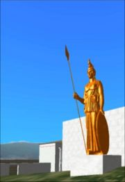 A statue of Athena quite similar to the Promakhos (by Da Espona Model) - Snapshot of the real time rendering of the prototype