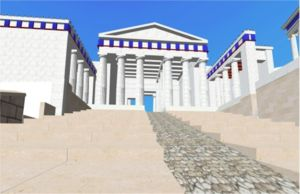 Reconstruction of the Propylaea by Kronoskaf - Snapshot of the real time rendering of the prototype